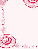 Pink flower stationery stock photo