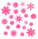 Pink flower symbols Stock Photography