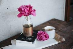 Pink, Flower, Vase, Display, Table Royalty Free Stock Image