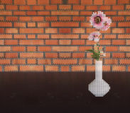Pink Flower In Vase Royalty Free Stock Photo
