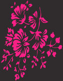 Pink Flower Vector Clipart Design Illustration Stock Images