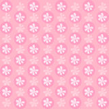 Pink flower wallpaper great for any use. Vector EPS10. Stock Images