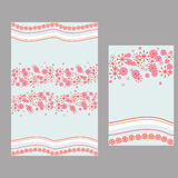 Pink flower and wave pattern for tablecloth Royalty Free Stock Photography