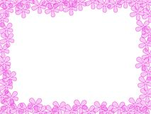 Pink Flowered Frame Stock Photo