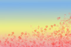 Pink flowers. Tender background with pink flowers and soft gradient Royalty Free Stock Photos