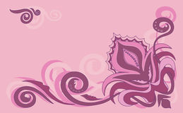 Pink flowers. A beautiful set of flowers on a pink background. This is a vector design .The colours are easy to change if you wish stock illustration