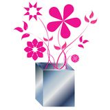 Pink flowers arrangement Royalty Free Stock Image