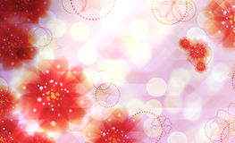 Pink flowers background Stock Photography