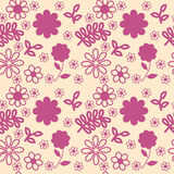 Pink Flowers Background. Vector pink flowers, seamless texture Stock Photography