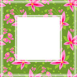 Pink flowers border Royalty Free Stock Photography