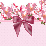 Pink flowers bouquet card Stock Photography