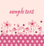 Pink flowers Cards Royalty Free Stock Image
