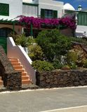 Costa Teguise villa garden royalty free stock image