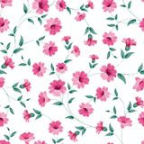 Pink flowers fabric. Royalty Free Stock Photos