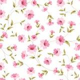 Pink flowers fabric. Stock Photo