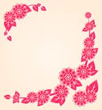 Pink Flowers at the Floral Card Corner Stock Images