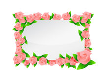 Pink flowers frame illustration designs Stock Photography