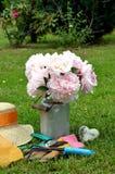 Pink Flowers gardening Royalty Free Stock Photo