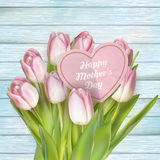 Pink flowers for mothers day. EPS 10 Royalty Free Stock Photo
