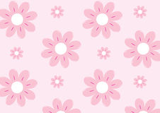 Pink Flowers Pattern Design Stock Photo