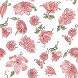 Pink flowers pattern Stock Photo