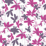 Pink Flowers Pattern. Sweet and Pink Blooming Flowers Pattern Stock Photos