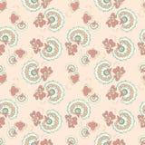 Pink flowers pattern. Vintage pink flowers seamless pattern Royalty Free Stock Photo
