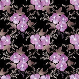 Pink flowers retro abstract seamless pattern texture background Stock Images