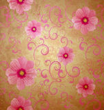 Pink flowers romantic spring vintage background Stock Photography