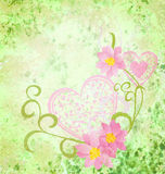 Pink flowers romantic spring vintage background Stock Photos