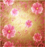 Pink flowers romantic spring vintage background Stock Image