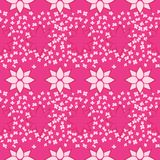 Pink flowers seamless pattern Stock Photography