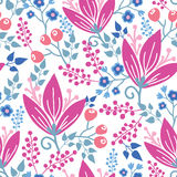 Pink flowers seamless pattern background Stock Photography