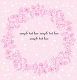 Pink flowers wreath Royalty Free Stock Image