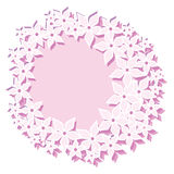 Pink flowers wreath frame Stock Photos