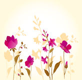 Pink Flowers_golden Royalty Free Stock Photos