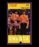 Pink Floyd Postage Stamp from Rwanda Stock Photo
