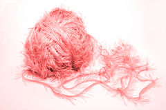 Pink fluffy heart Stock Photography
