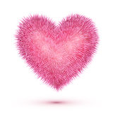 Pink fluffy isolated vector heart Stock Images