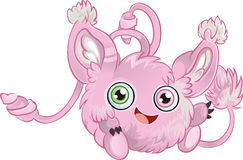 Pink fluffy little animal Stock Image