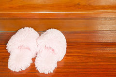 Pink Fluffy Slippers Royalty Free Stock Image
