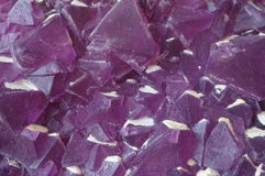 Pink Fluorite crystals. Pink octahedron shaped Fluorite crystals, from the famous Mina Navidad mine in Durango, Mexico Royalty Free Stock Photo