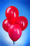 Pink flying balloons Royalty Free Stock Image