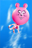 pink flying bunny balloon Royalty Free Stock Photography