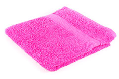 Pink folded towel Royalty Free Stock Photo