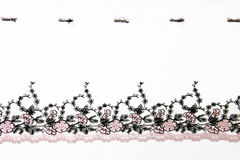 Pink folwer lacework Royalty Free Stock Photo