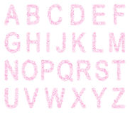 Pink font from hearts Stock Photo