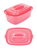 The pink food containers Stock Image