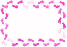 Pink Foot frame border Stock Image