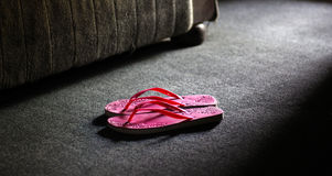 Pink footwears Royalty Free Stock Images